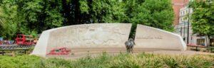 Animals in War memorial.