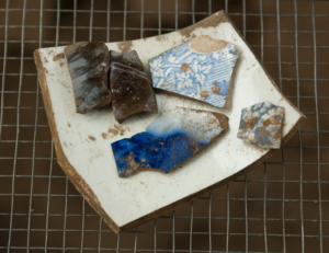 Fragments of crockery found during the Seneca Village dig.