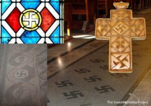Various examples of the swastika in Christian settings.