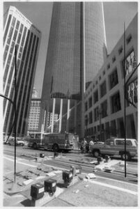 The office tower at 101 California Street at the time of the shooting