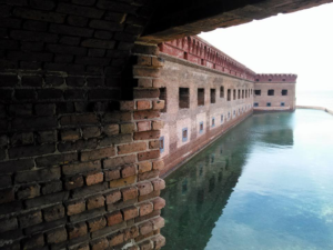 Fort Jefferson was built to protect one of the most strategic deepwater anchorages in North America