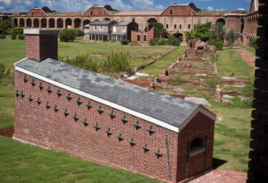 Hot Shot Oven at Fort Jefferson. The oven seen here was designed to heat solid cannon shot to be fired at attacking ships.