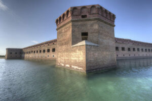 Fort Jefferson surrounded by moat