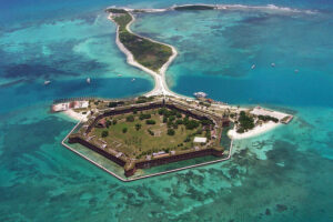 Fort Jefferson from the air.