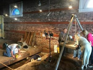Excavations inside the Fiesta Mall (City of St. Augustine)