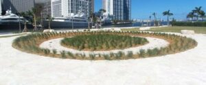 Miami Circle, Miami, Florida, USA. Note the holes in the circle.