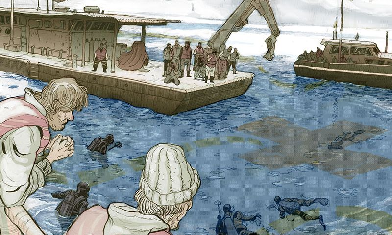 Archeologists against treasure hunters of a shipwreck off Florida's Coast Pits