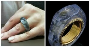 The sky blue hololith, made from a single piece of sapphire, is believed to have owned by Caligula, who reigned from 37AD until his assassination four years later