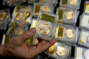 A California couple found 1,427 Gold-Rush era U.S. gold coins in their yard when they were out walking their dog last year. The collection — valued at $11 million