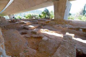 The Tel Motza Iron Age temple excavation site in Jerusalem.