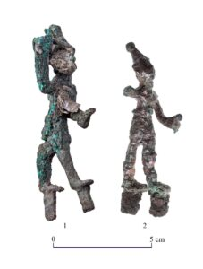 Two ancient figurines found at the temple in Tel Lachish likely represent Baal and Resheph, deities worshipped by the Canaanites.