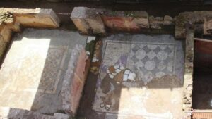 Archaeologists unearthed a 14-room home, likely used by a commander of Emperor Hadrian's Praetorian Guard, back in March (Ministry of Cultural Heritage and Activities and Tourism)