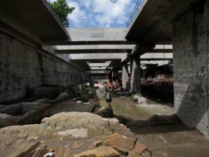 A new Metro station will incorporate the runis