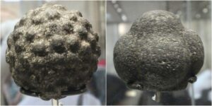 Carved stone balls, classed as Neolithic