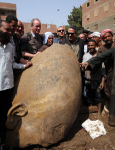 These monumental findings were unearthed by a team of German and Egyptian archaeologists, and are currently being restored