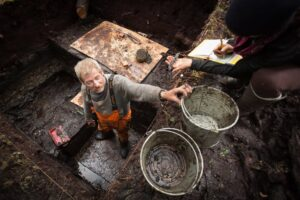 Researchers from the Hakai Institute and the University of Victoria, with local First Nations members, unearthed revealing artifacts on Triquet Island, around 310 miles northwest of Victoria, Canada. They've found fish hooks, spears, and tools to ignite fires. Thanks to the discovery of the ancient village last year, researchers now think a massive human migration may have happened along British Columbia's coastline.