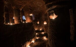 The inside of the cave