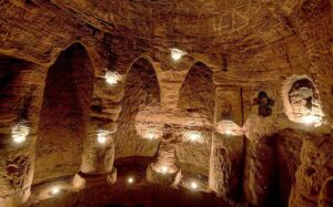 The untouched caves, in Shropshire, apparently date back 700 years when they were used by the Knights Templar