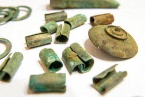 Detail of bronze Scythian harness discovered near Mała Nieszawka in Poland.