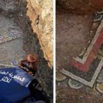 Workers uncover Roman mosaic in Baalbek market