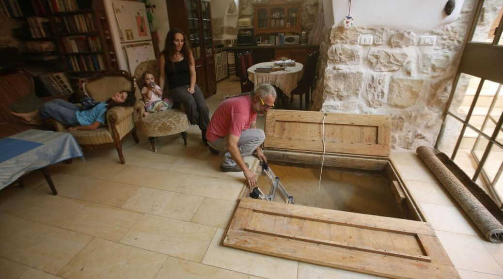 Israeli family discovers ancient treasure under the living room