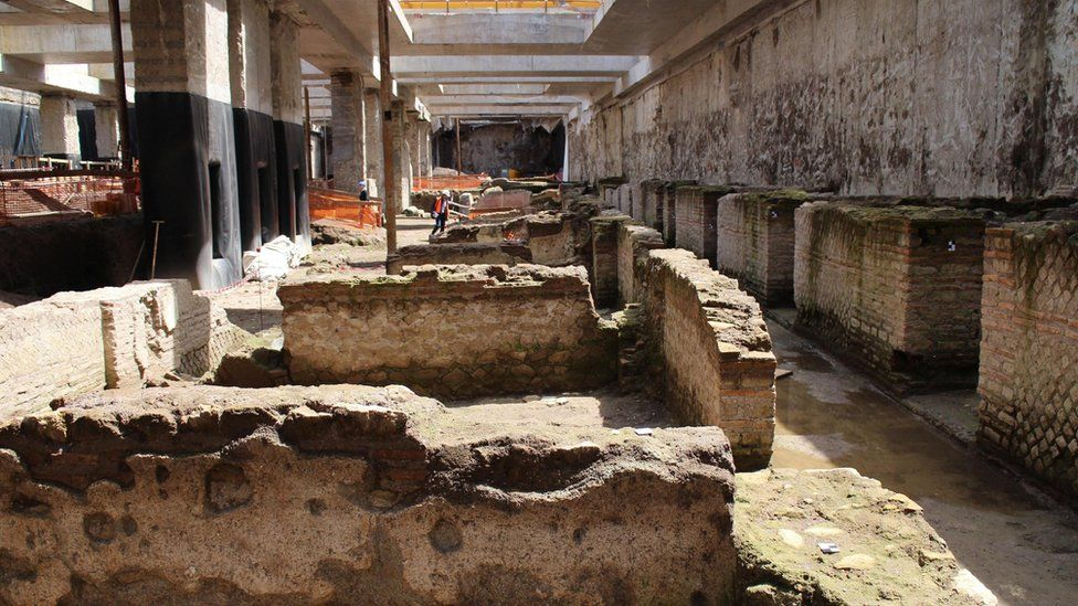 Rare Roman relics unearthed in Rome subway construction