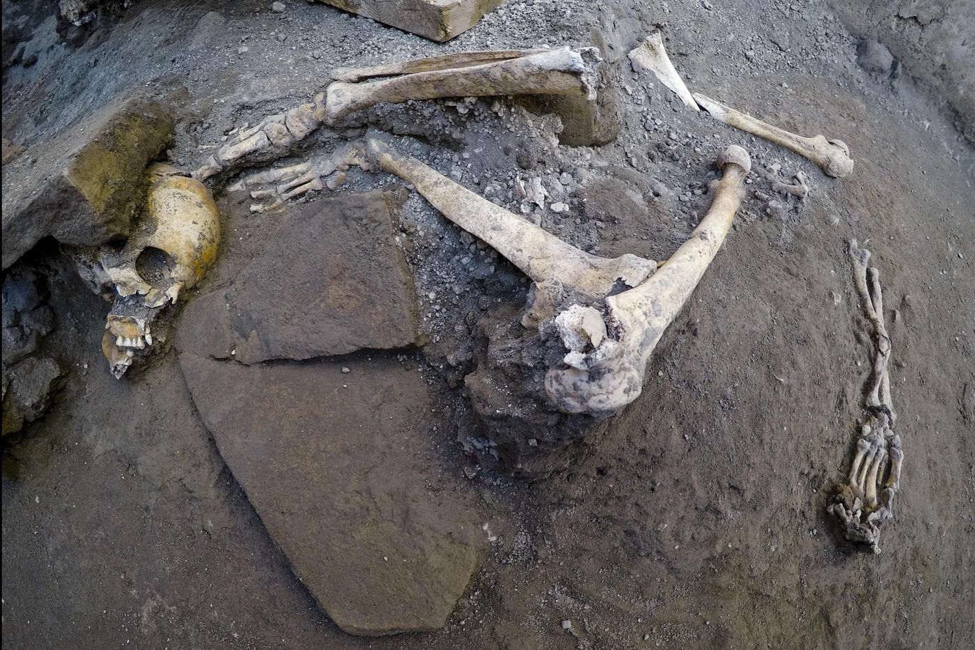 Dig at Italy's Pompeii volcanic site yields 5 skeletons